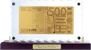 Золотая банкнота, золотая денежная купюра